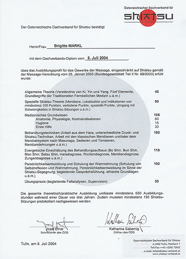 Biographie - Brigitte Markl - Energie in Bewegung - Shiatsu, QiGong ...